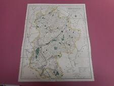 100% Original Bedfordshire Pliante Carte sur lin par J Walker C1835 très bon état