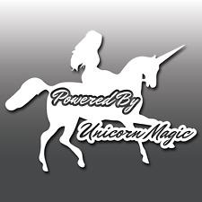 FUNNY Powered by Unicorno Magic Vinile Auto Decalcomania Paraurti Adesivo JDM, DUB GRAPHIC