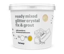 Hemway Glitzer Fuge & Fix Fertig Gemischt 4.5kg kg ( Weiß / Gold Holografisch)