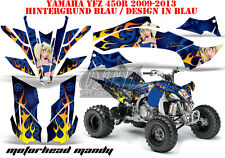 AMR Racing DECORO GRAPHIC KIT ATV Yamaha YFZ 450 04-14,yfz 450r Motorhead Mandy B