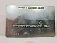Vintage NORTHWEST AIRLINES 012 Ticketing Plate Validation Plate
