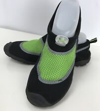 96776782c C9 Champion Youth Boy Black Neon Green Peter Water Shoes Aqua Shock XL 6