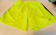 Nike Basketball Dri Fit Neon Yellow Men's Shorts Size Xl
