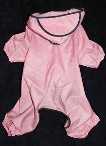 Dog Cat Rain Coat Pants Overall Raincoat Hoodie Waterproof For SMALL Pet sz XS-M