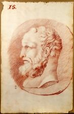 Belle Sanguine XVIIIe Dessin Ancien Portrait Homme Old Drawing Red Chalk