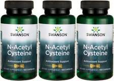 300 Caps Swanson NAC N-Acetyl Cysteine 600 mg Liver Health Antioxidant + Bonus