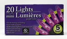 20 Lights mini Lumieres Purple Violet 5 Feet