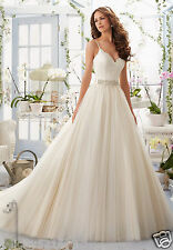 New White/Ivory Wedding dress Ball gown Custom Size 4 6 8 10 12 14 16 18 20+++