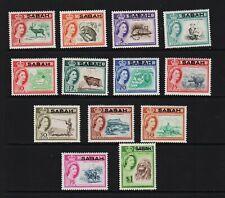 Malaysia - Sabah #1-13 mint, cat. $ 23.70