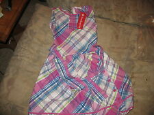 American Girl Purple Plaid Ruffle Party Dress for Girls Size 14  F3619 NWTS