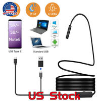 5.5mm 6 LED Android Waterproof Snake Borescope Endoscope USB Inspection Camera
