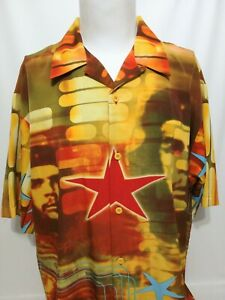 Dragonfly Clothing Co. Multicolor Che Guevara Short Sleeve Shirt Mens Size XL