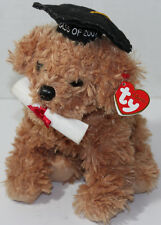 Ty Beanie 2007 GRADUATION DOG WITH DIPLOMA Bean Filled STUFFED Soft Toy NEW NWT