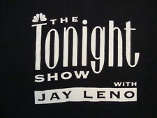 Vintage NBC The Tonight Show With Jay Leno Talk Show 90's Black T Shirt Size L