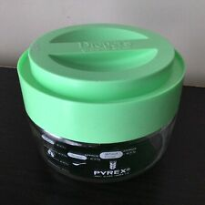 Mint Green Lid Dreyers Grand Ice Cream Glass Pyrex Dish #402
