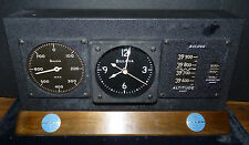 PAN AM AIRLINES Vintage Bulova Clock Airplane Altitude Gauge Rare