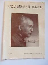 Carnegie Hall 1953 Program Vladimir Golschmann from Romeo and Juliet Great Ads