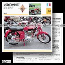 #062.04 MOTOCONFORT ZS 125 & 175 1958 Fiche Moto Classic Motorcycle Card