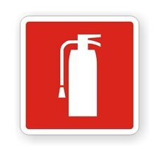 Fire Extinguisher Vinyl Decal / Stickers / Label Camper Van RV Boat Truck 4x4
