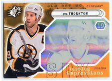2003-04 SPx 129 Joe Thornton 38/750 Lasting Impressions