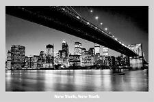 TRAVEL POSTER New York New York BRIDGE