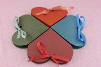 Heart Shape Favor Gift Box w/Ribbon,Wedding Bridal Party Candy Jewelry Memorial