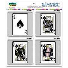 Playing Cards Spades Ace Jack Queen King - SLAP-STICKZ™ Window Bumper Stickers