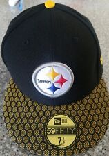 NFL Pittsburgh Steelers New Era Men's  On Field Fitted Hat -Black size 7 1/4
