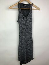 Wilfred Free Dress XXS Form Fitting Open Back Bodycon Gray Sleeveless Casual