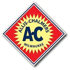"Allis Chalmers Vintage Logo Decal 5X5"" Repro Milwaukee Tractor Sticker YETI yeti"