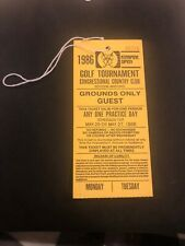 1986 Kemper Open Golf Pass for Practice Greg Norman Winner! Hang Ticket