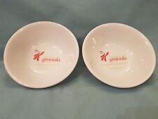 Promotional/Rare 2014 Set of 2 Kelloggs Special K Granola Ceramic Cereal Bowl-GC