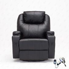 Black New Massage Sofa Chair Recliner Ergonomic Lounge Swivel Heated W/Control