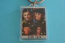 Star Trek Crew Photo in Plastic Keyring Keychain