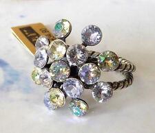 KONPLOTT  Ring  *Magic-Fireball* ein Glitzerstück in * Vitrailfarbe *