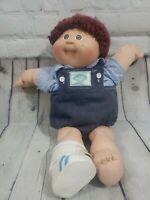 Vintage 1984 Xavier Roberts Cabbage Patch Boy Doll Brown Eyes Auburn Yarn Hair