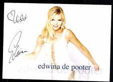 Edwina de pooter AUTOGRAFO MAPPA ORIGINALE FIRMATO # BC 38575