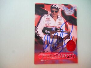 Dale Earnhardt signed 1996 CROWN JEWELS RUBY EDITION TREASURE CHEST WC Card #27