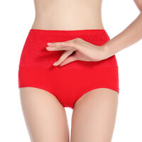 Ladies Girl Women High Waist Warm Underwear Body Shaper Knacker Brief Q1049