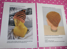 BARGAIN 2 X PRINTED KNITTING PATTERN INSTRUCTIONS - 2 X DK BEANIE  HATS
