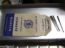 Alte Papiertüte  Nähmaschine SCHMETZ NADELN sewing needle machine Germany