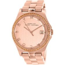 Marc Jacobs Womens Large Watch All Rose Gold & Swarovski HENRY/Box MBM3357