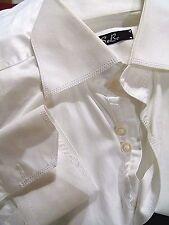 SOBE (Designed in Australia) SMART ELEGANT HANDMADE WHITE DRESS SHIRT L