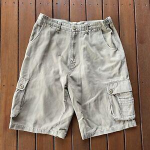 Vintage Hang Ten Shorts Size M Waist 87cm Brown Cargo Baggy Casual Mens