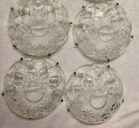 Vintage Bowls Chandelier Glass Cut Crystal Bowls Lot of 4