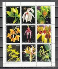 Chad, !997 Cinderella issue. Orchids sheet of 9.