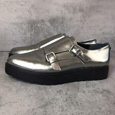 Calvin Klein women shoes 7, metallic silver Vespera Comfy Dress Up or Down