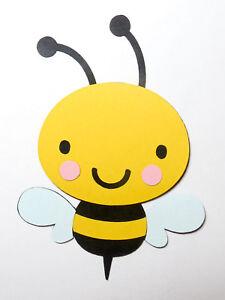 Cute Animals Bumble Bee Die Cut Cardstock Scrapbook Embellisment