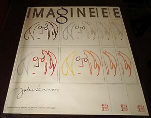 JOHN LENNON - Imagine HAND SILK-SCREENED LITHOGRAPH - x3 sequential #'s -Bag One