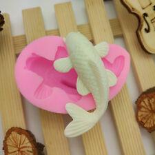 3D Carp Fish Decorating Tool Cutter Mold Mould Sugarcraft Fondant Cake Maker